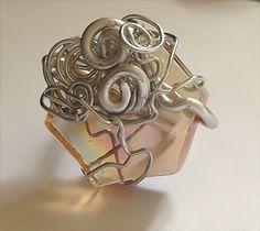 #Tangerine #Hexagonal #Goddess #Spiral #Ring by Eldwenne, $18.00 #etsy #handmade #jewelry #pagan #wiccan #spn