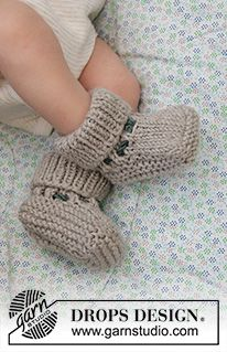 Baby Knitting Patterns, Baby Booties Knitting Pattern, Crochet Baby Booties, Knitting For Kids, Free Knitting, Knit Crochet, Crochet Patterns, Crochet Design, Baby Romper Pattern Free