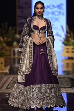 Shop Jayanti Reddy Embroidered Lehenga Set , Exclusive Indian Designer Latest Collections Available at Aza Fashions Raw Silk Lehenga, Bridal Lehenga Choli, Indian Lehenga, Ghagra Choli, Choli Designs, Lehenga Designs, Blouse Designs, Dress Indian Style, Indian Dresses