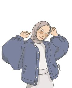 moda emo - Reality Worlds Tactical Gear Dark Art Relationship Goals Illustration Girl, Character Illustration, Simple Illustration, Girl Cartoon, Cartoon Art, Character Art, Character Design, Hijab Drawing, Islamic Cartoon