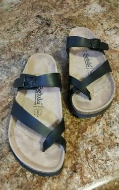 fc78445979a Womens 7 38 BETULA BIRKENSTOCK Black SANDALS