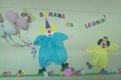 Semana da criança  na educação  infantil. EVA e papel crepon.#trabalharfazbem #educaçãoinfantil  #palhaços