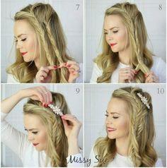 Tutorial de penteado de festa lindo e fácil de fazer. Dá até para pensar em usar no Natal!