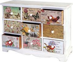 Heute Wohnen Kommode Venlo Schubladenschrank Shabby Look Vintage 9 Schubladen 60x79x30cm Jetzt Bestellen Unter