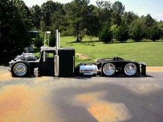 seen some big-rig hot rods before, but this one takes the cake...