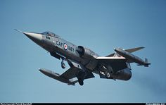 CF-104 coming for landing. Note the leading edge flaps extended.