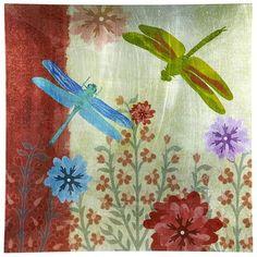 Dragonflies Glass Platter