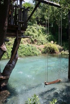 pool designed to look like a pond