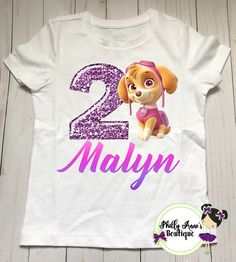 Paw Patrol Birthday Shirt Girls Boys Character Party Personalized