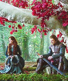Catelyn and Eddard Stark. On the list of things that will make me cry. Game Of Thrones 1, Game Of Thrones Series, Game Of Thrones Funny, Valar Morghulis, Valar Dohaeris, Winter Is Here, Winter Is Coming, Michelle Fairley, Catelyn Stark