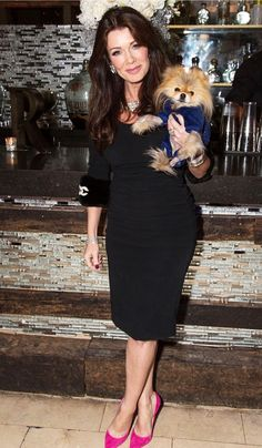 I love this outfit. I need to find myself some hot pink pumps and a dress like that. Lisa Vanderpump & Giggy