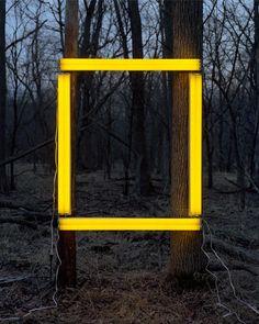 Beautiful/Decay Artist & Design – Dan Bradica's Lansdcapes Altered With Paper … - Modern Land Art, Contemporary Art, Modern Art, Light Art Installation, Instalation Art, Light And Space, Environmental Art, Mellow Yellow, Art Plastique