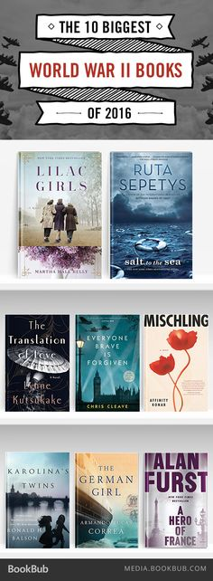 Creating a 2017 book list? These World War II reads are some of the best and newest historical fiction books to read.
