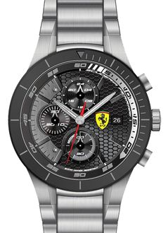 FERRARI 830263 MEN'S REDREV EVO CHRONOGRAPH WATCH w/ DATE MSRP: $345.00 REDREV EVO COLLECTION: The most representative of the vigorously evolved Scuderia Ferrari FW15 collections designed for true team enthusiasts, RedRev Evo gears up competitively with powerful new designs that reflect the trend toward bigger, high-performance watches with sleek ergonomic [...]