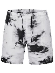 13835c9ca2 Straight Tie-Dye Color Block Mid Waist Beach Shorts