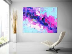 Extra Large Wall Art Original Painting on Canvas Contemporary Wallart Modern Abstract Living Room Wall ArtColorful Abstract Painting Picasso Paintings, Original Paintings, Art Paintings, Bathroom Paintings, Abstract Paintings, Large Abstract Wall Art, Large Painting, Modern Art Movements, Extra Large Wall Art