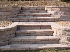 Image result for keystone retaining wall with steps