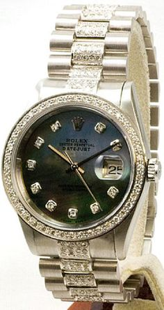 Rolex Datejust Black MOP Diamond Dial Bezel and Dial | Limited Watches