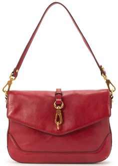 MARC BY MARC JACOBS Authentic Red Leather Gold Tone Hardware Shoulder Bag #MarcbyMarcJacobs #ShoulderBag
