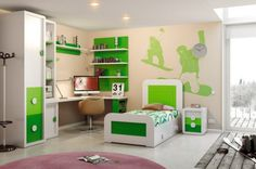Modern Kids Bedroom Furniture Sets for Boys Kids Furniture Sets, Modern Childrens Furniture, Modern Kids Bedroom, Kids Bedroom Sets, Modern Bedroom Furniture, Spanish Classroom Decor, Room Themes, Kids Decor, Home Decor