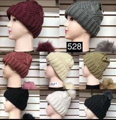 d90484b450df62 New women fashion fur lining knit ball beanie hats-black pink white beige  gray #