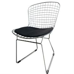 Baxton Studio Bertoia Style Wire Side Chair 8320 Steel wire mesh chair with chrome feel Simple yet stylish design Completes with Wire Dining Chairs, Dining Chair Set, Kitchen Chairs, Patio Chairs, Room Chairs, Dining Area, Kitchen Seating, Dining Sets, Dining Table