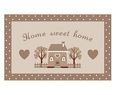 Zerbino in cocco Home Sweet Home marrone e beige - cm Place Cards, Sweet Home, Place Card Holders, Fantasy, Beige, Frame, Home Decor, Picture Frame, Decoration Home
