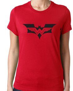 Super Hero: Batman and Wonder Woman Logo Tee