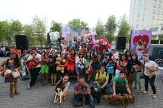 Pet Love! A valentine celebration with furry friends at the Fountain Court Concert Grounds on February 14, 2016  Photo: Brian Congson