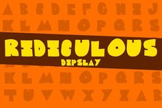 Ridiculous Typeface by DefayDesigns on @creativemarket