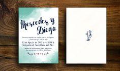Invitación watercolor. Más info: www.altamarstudio.com