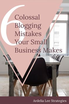 Running a blog for your small business is a great way to attract clients, build your authority, and show your expertise. However, if you're making these 6 colossal blogging mistakes, you may be at best irritating your readers and at worst damaging your reputation and your ability to attract and book clients. Don't let these 6 colossal blogging mistakes hold your small business back. Click through to find out whether or not you're in the clear.