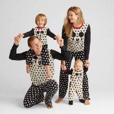 Women s Disney® Mickey Mouse 2pc Pajama Set - Black  White 936a7cd6e