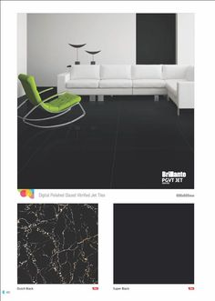 "#Dutch Black & Super Black - Millennium #Tiles 600x600mm (24x24) Digital Brilliante PGVT JET #PorcelainTiles  - HD Technology: High-definition technology (HDT) provides a resolution that is substantially higher that of standard-definition tiles.  - CF Technology: ""CF"" stands for ""Crystal Fortification"" This technology is mainly used in the ""Brilliante HD"" & ""Robusto HD"" series. The composition of special chemicals are applied on the tiles after the printing process which fortified the tiles…"