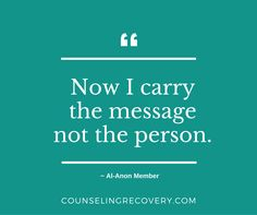 Great quote from an Al-Anon member in 12 step recovery that reminds us to let go of control and have realistic expectations.