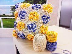 Programa Arte Brasil - 31/03/2016 - Marta Araújo - Almofada com Flores em Crochê - YouTube