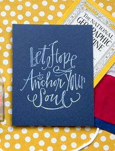 Lindsay Letters Calligraphy Stationery via Oh So Beautiful Paper