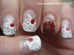 Whip Cream Sundae Nail Art Summer Tutorial