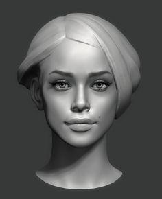 ArtStation - head sketch, Eugene Fokin