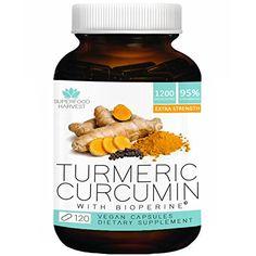 Organic Turmeric Capsules with Curcumin | 1200mg (120 Veg...