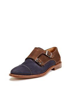 Cap-Toe Nubuck Double Monkstrap Shoes by McCarren & Sons at Gilt