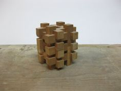 3D Wooden Puzzle 3D Cube Puzzle by FolkOfTheWoodCrafts on Etsy, $7.00