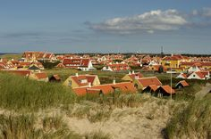 Old Skagen with its yellow houses