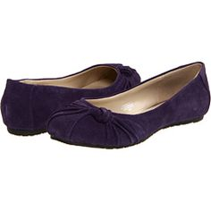 Fitzwell purple suede flats