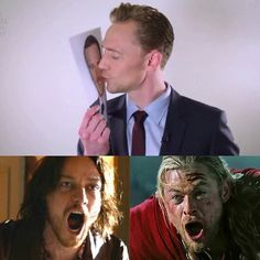 ^_^ broken hearts. THE new ship: Tom x Michael Fassbender --- Fassstone? Hiddlebender?