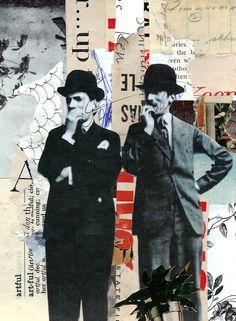 retrato después -imaginary para Leo & amp; Pipo cortar / pegar collage sobre papel, 2013 http://www.flickr.com/photos/leoandpipo/with/9455527513/