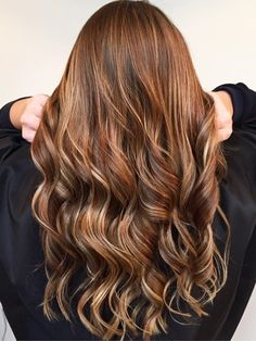 Auburn Hair With Golden Blonde Highlights