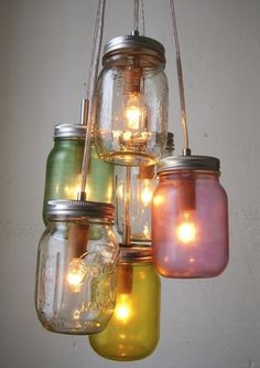 recycling jars. Would make very nice party lights.