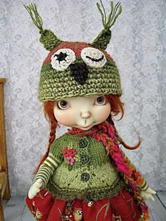 OOAK Winking Owl Outfit for Connie Lowe Sprocket, Sprockets, made by Ulla