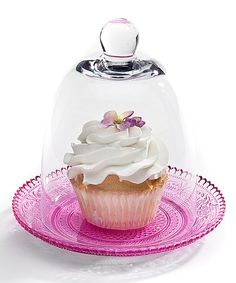 Loving this Pink Cupcake Plate & Dome on #zulily! #zulilyfinds